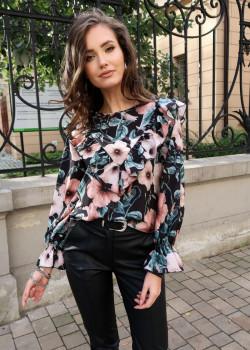 Ubrania z printem w stylizacjach biznesowych