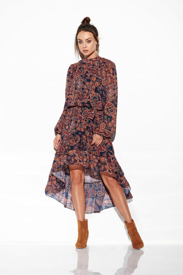 Sukienka z krótszym przodem CARMEN