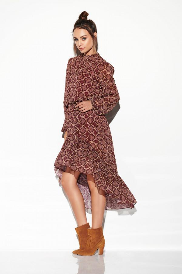 Sukienka z krótszym przodem CARMEN 2