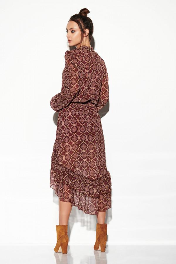 Sukienka z krótszym przodem CARMEN 3