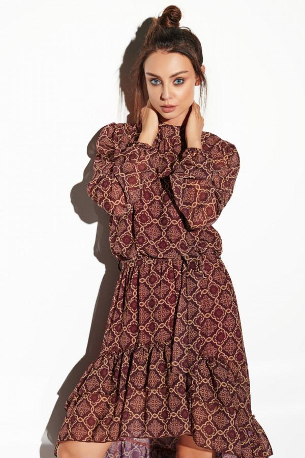 Sukienka z krótszym przodem CARMEN 1