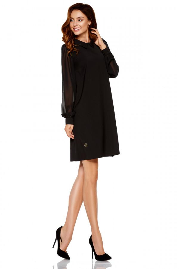 Sukienka z szyfonowymi rękawami 1