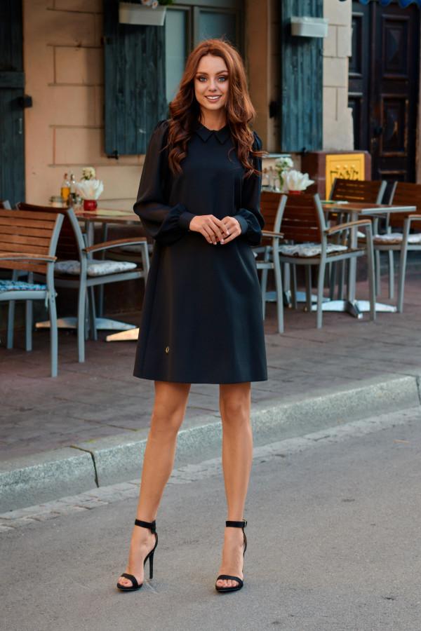 Sukienka z szyfonowymi rękawami 3