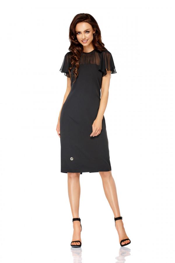 Elegancka sukienka wizytowa z szyfonem SOFIA