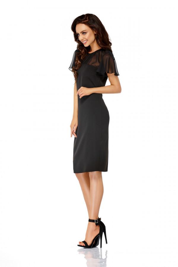 Elegancka sukienka wizytowa z szyfonem SOFIA 1