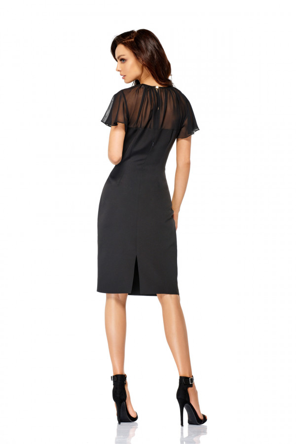 Elegancka sukienka wizytowa z szyfonem SOFIA 2