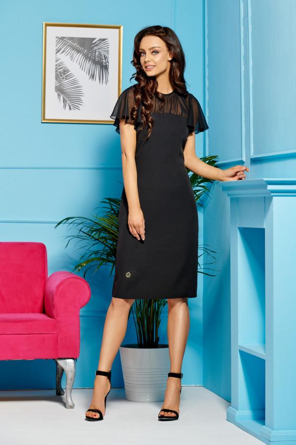 Elegancka sukienka wizytowa z szyfonem SOFIA 3