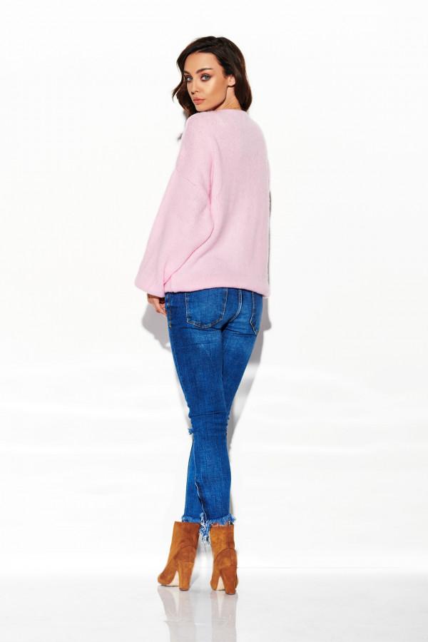 Sweter z dekoltem i luźnymi rękawami 1