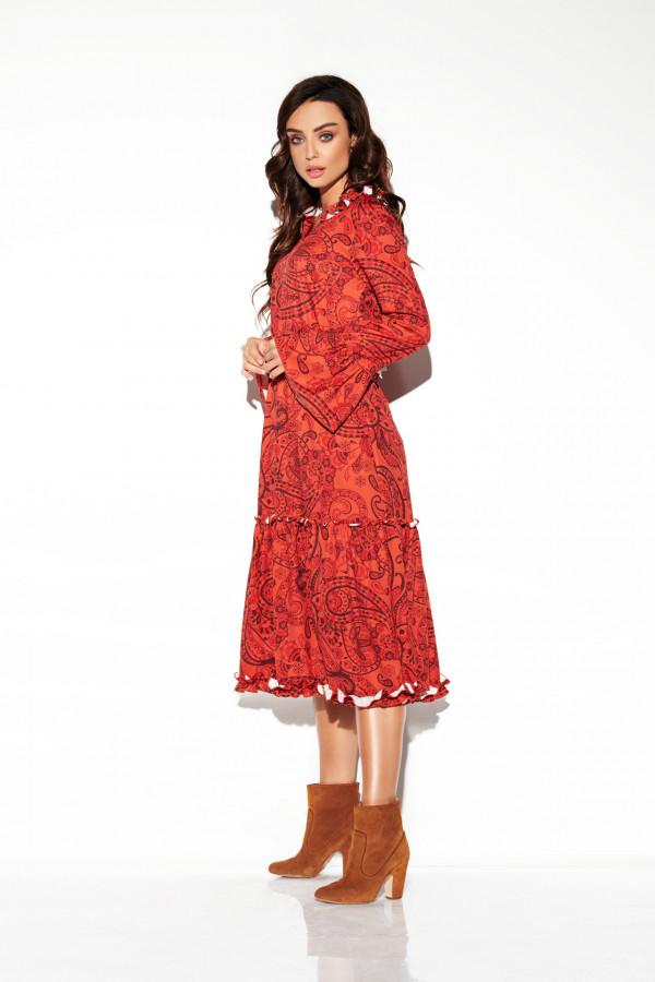 Sukienka midi z falbankami KATIA 1