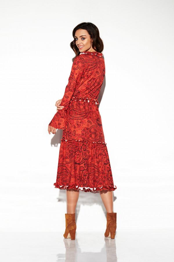 Sukienka midi z falbankami KATIA 2