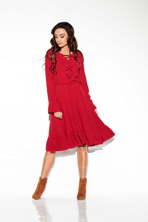 Sukienka ze sznurowanym dekoltem EMILY