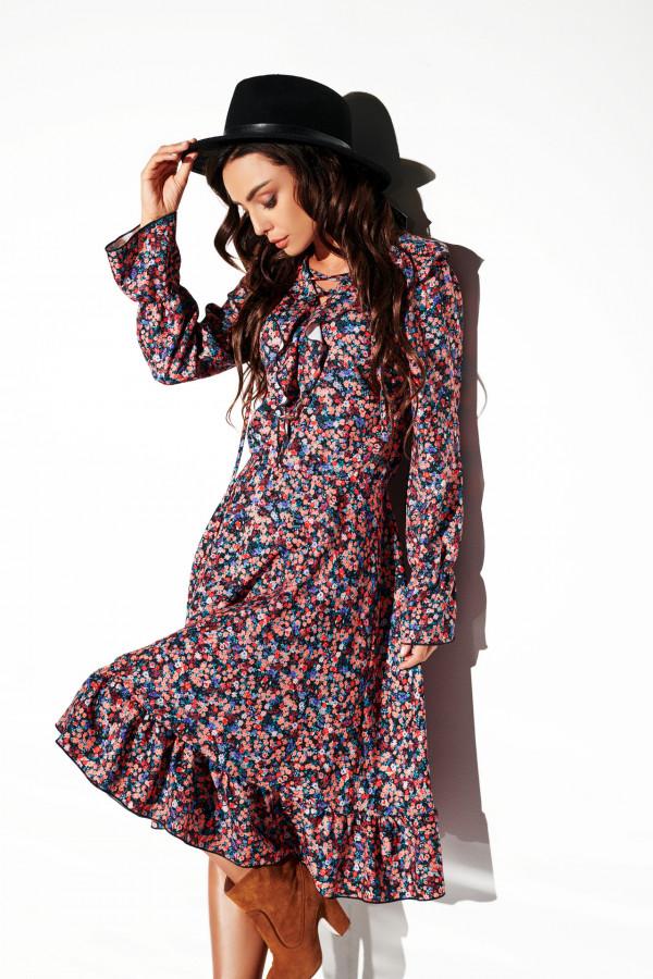 Sukienka ze sznurowanym dekoltem EMILY 1