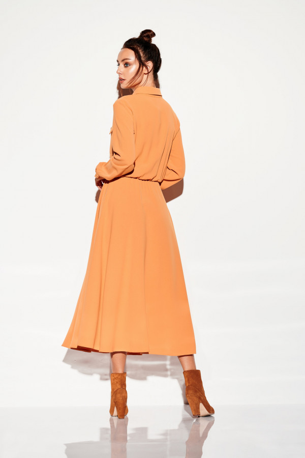 Sukienka szmizjerka maxi kolor 2