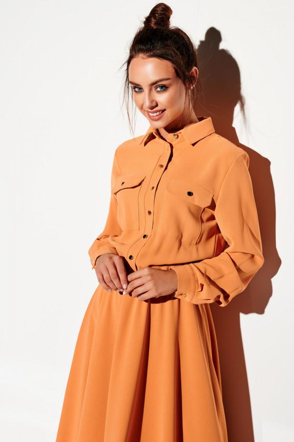 Sukienka szmizjerka maxi kolor 3