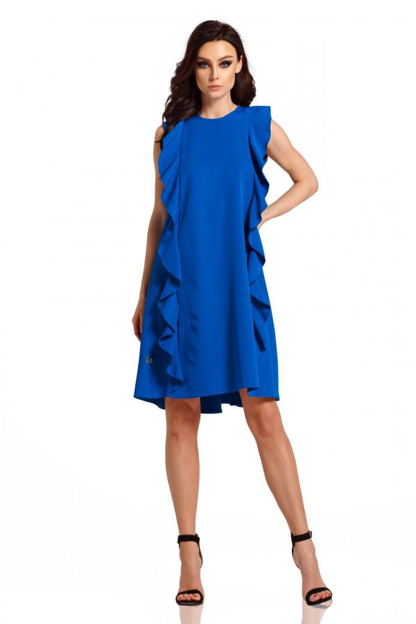 Sukienka bez rękawów z falbanami PENELOPE