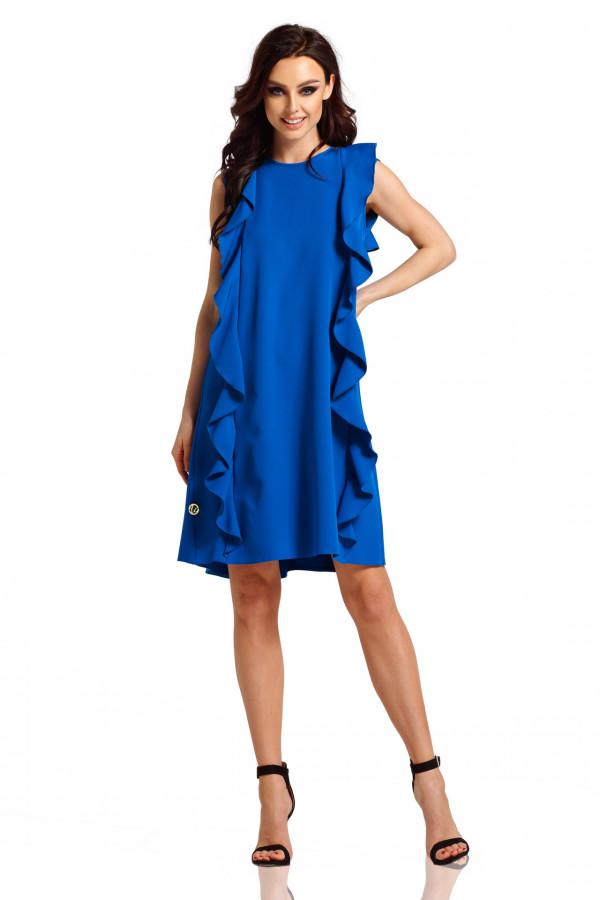 Sukienka bez rękawów z falbanami PENELOPE 1