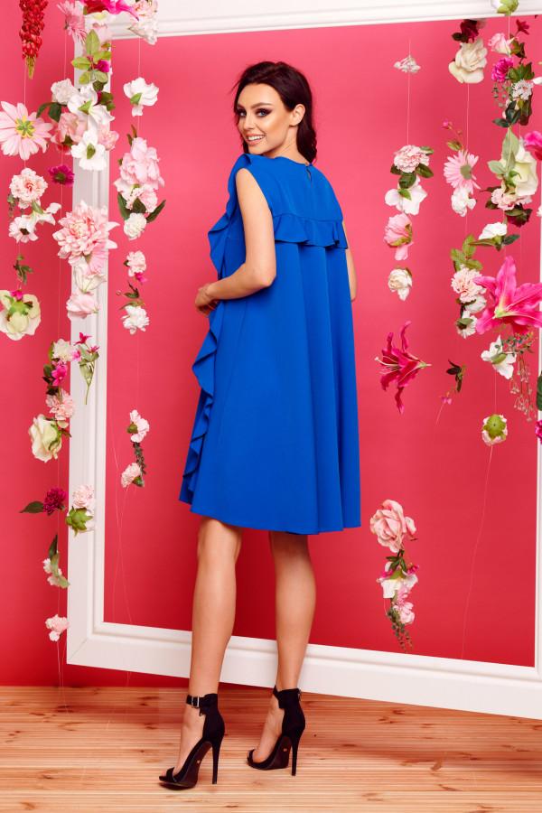 Sukienka bez rękawów z falbanami PENELOPE 6