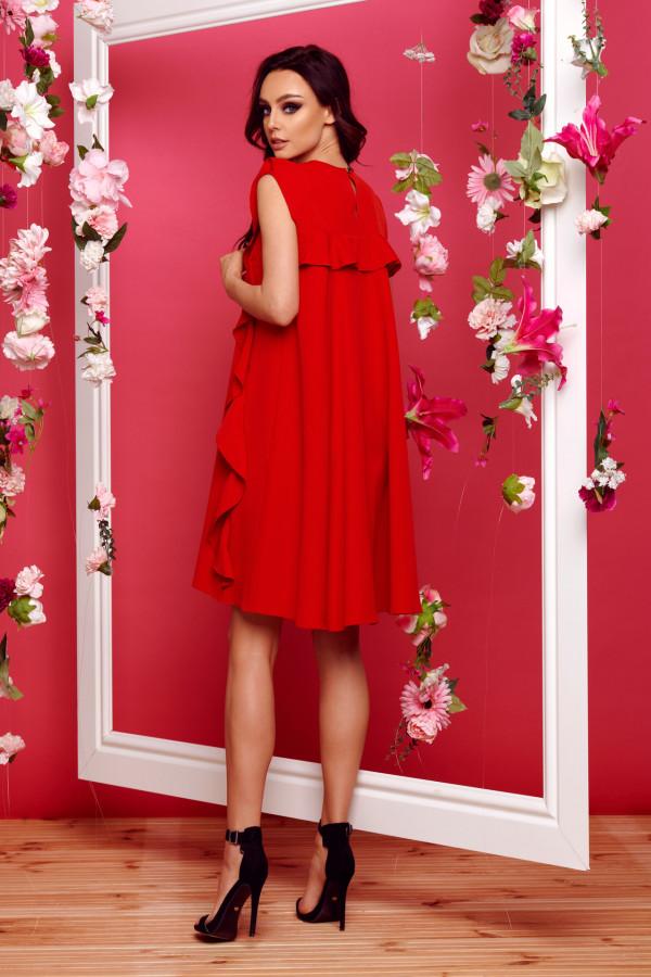 Sukienka bez rękawów z falbanami PENELOPE 5