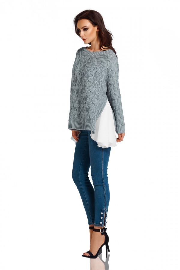Sweter z szyfonem 2
