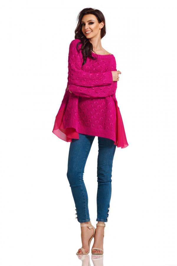 Sweter z szyfonem