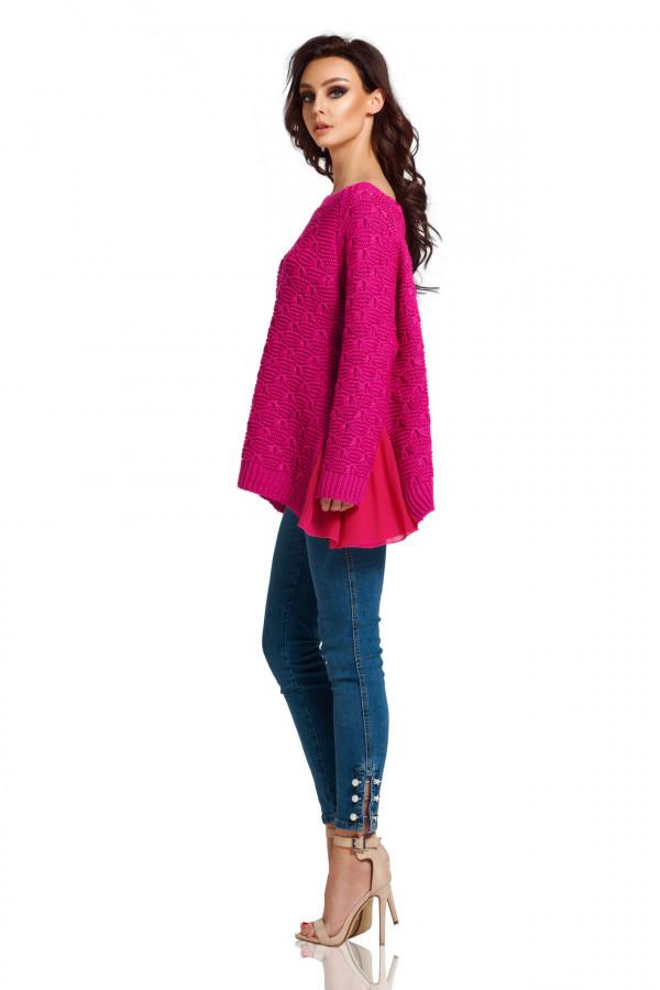 Sweter z szyfonem 1