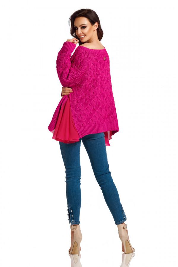 Sweter z szyfonem 3