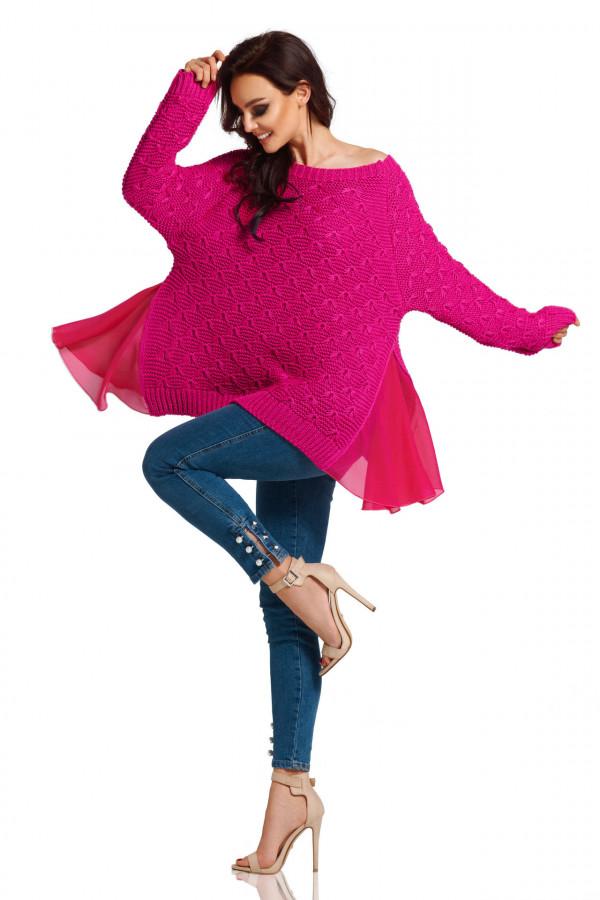 Sweter z szyfonem 4