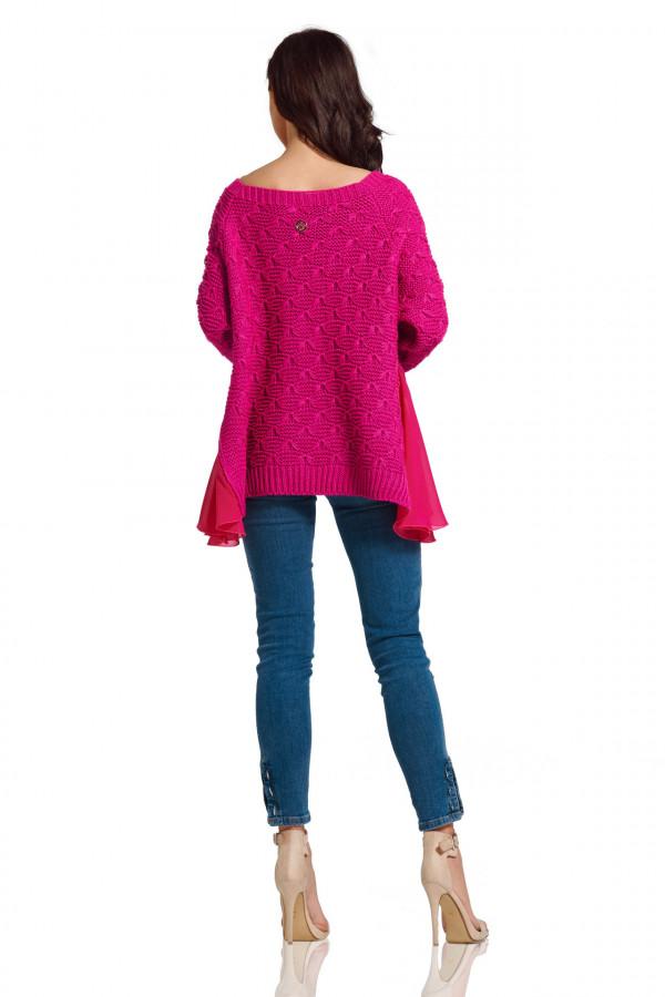 Sweter z szyfonem 5