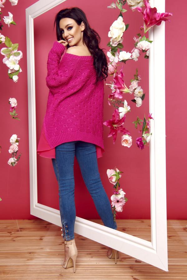 Sweter z szyfonem 6