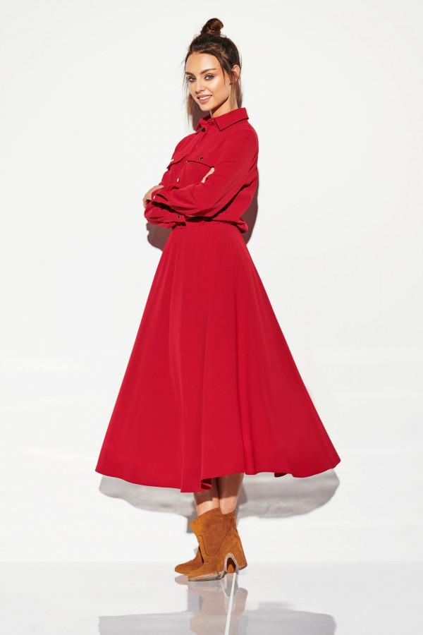 Sukienka szmizjerka maxi kolor 1