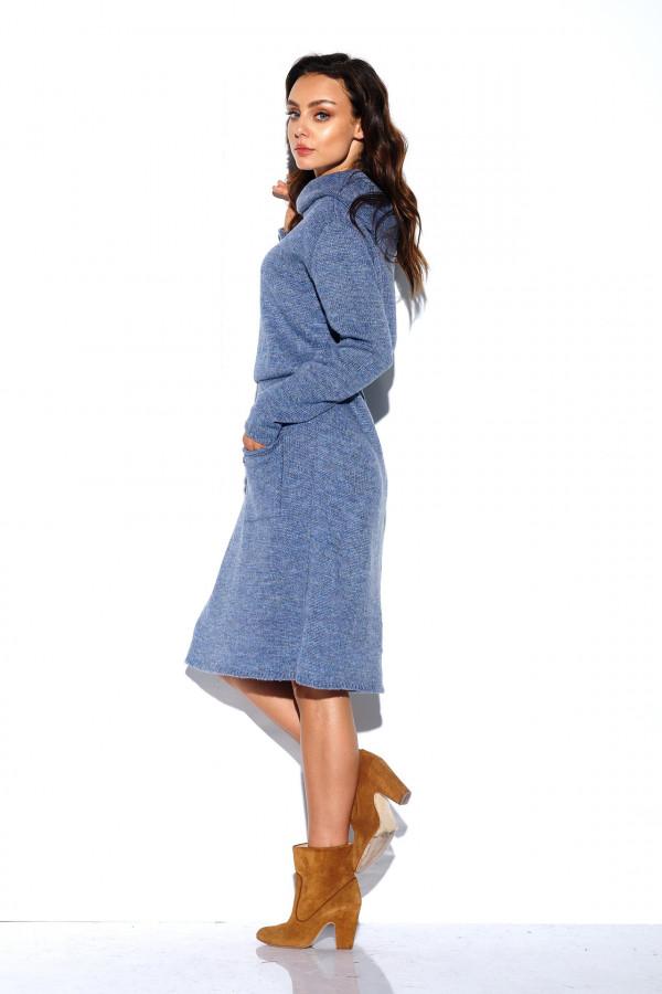 Sukienka z golfem i kieszeniami 1