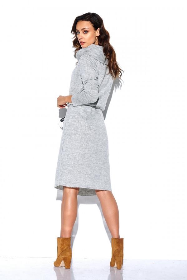 Sukienka z golfem i kieszeniami 2