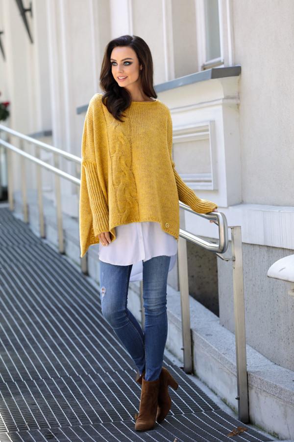 Sweter ponczo MARISA