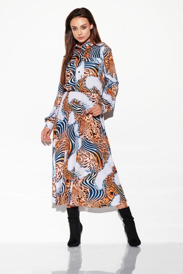 Sukienka szmizjerka maxi wzory 2