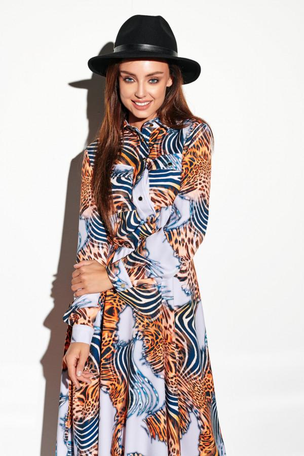 Sukienka szmizjerka maxi wzory 5