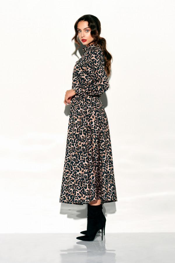 Sukienka szmizjerka maxi wzory 1