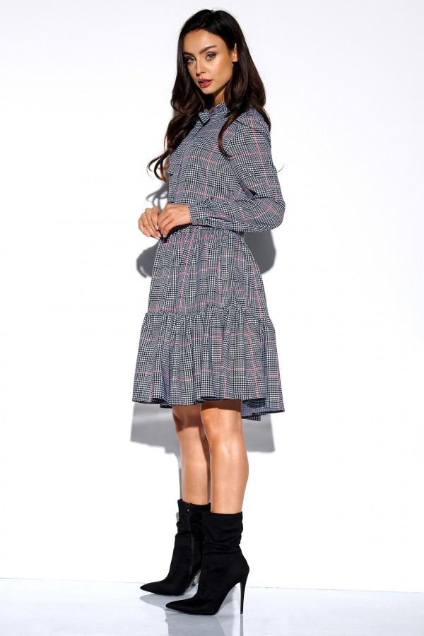 Sukienka we wzory z kokardą AZALIA