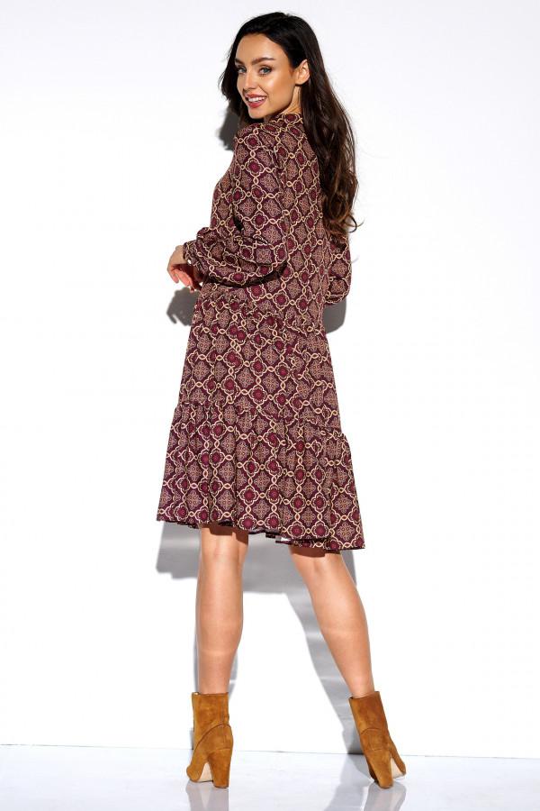 Sukienka we wzory z kokardą AZALIA 2