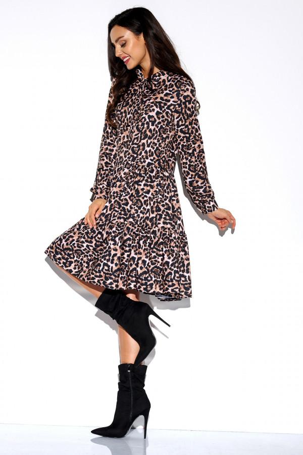 Sukienka we wzory z kokardą AZALIA 3