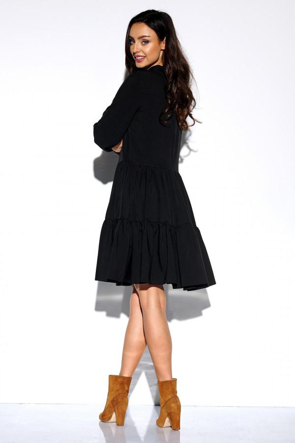 Sukienka monokolor z kokardą BELLA 2
