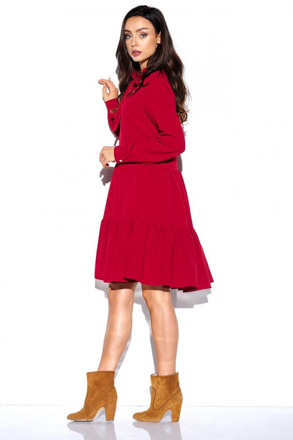 Sukienka monokolor z kokardą BELLA 3