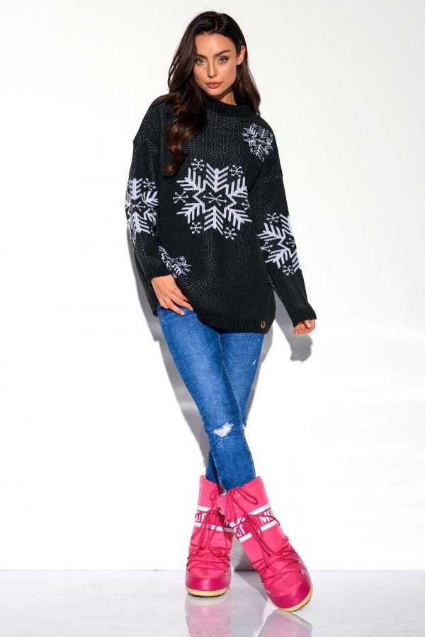 Sweter półgolf ŚNIEŻYNKA