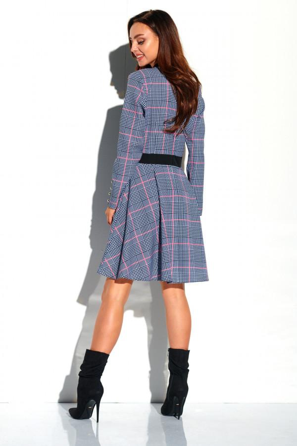 Sukienka w kratkę z kokardą ALEX 1