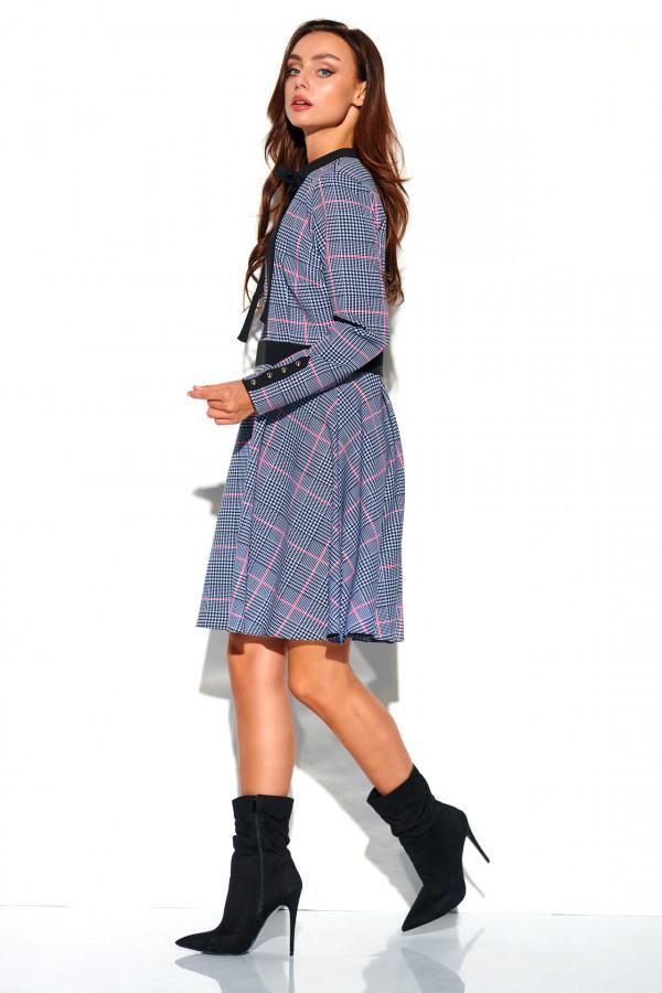 Sukienka w kratkę z kokardą ALEX 2