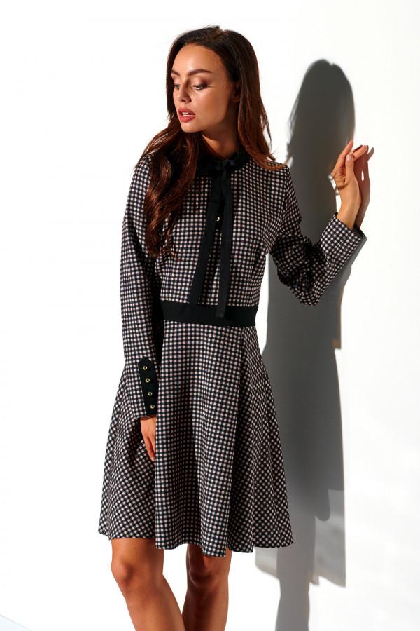 Sukienka w kratkę z kokardą ALEX 3