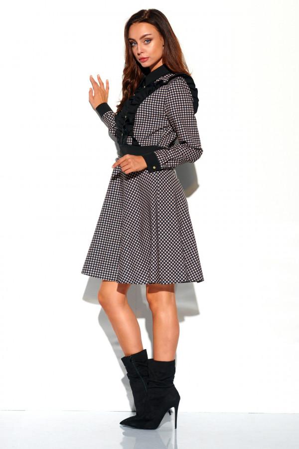Sukienka w kratę z żabotem DEBBY 1