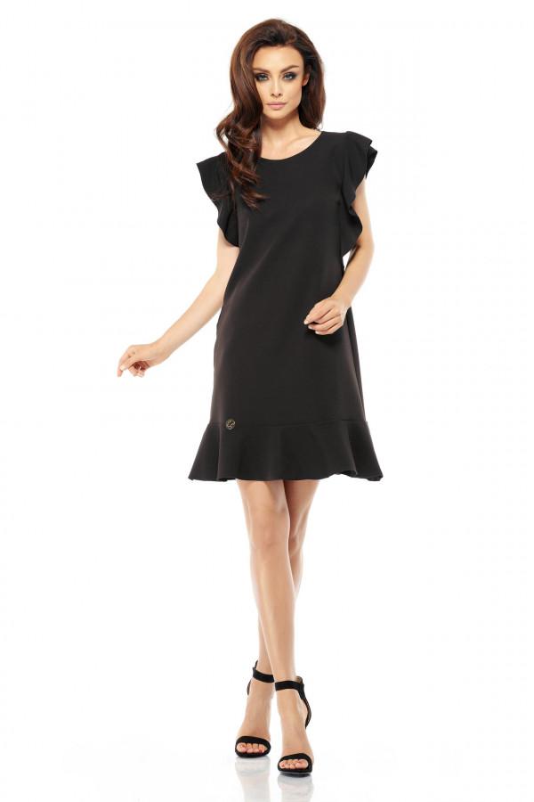 Wizytowa sukienka z falbanami 1
