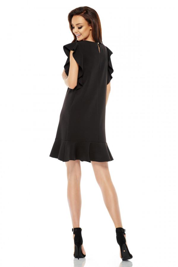 Wizytowa sukienka z falbanami 3