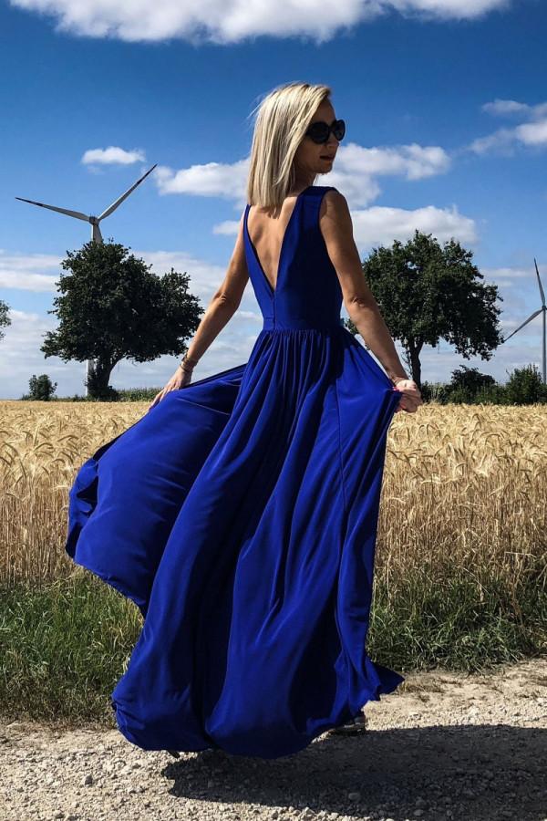 Długa elegancka sukienka REBECA 1