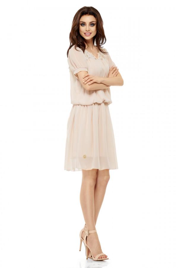 Szyfonowa sukienka z krótkim rękawem 2